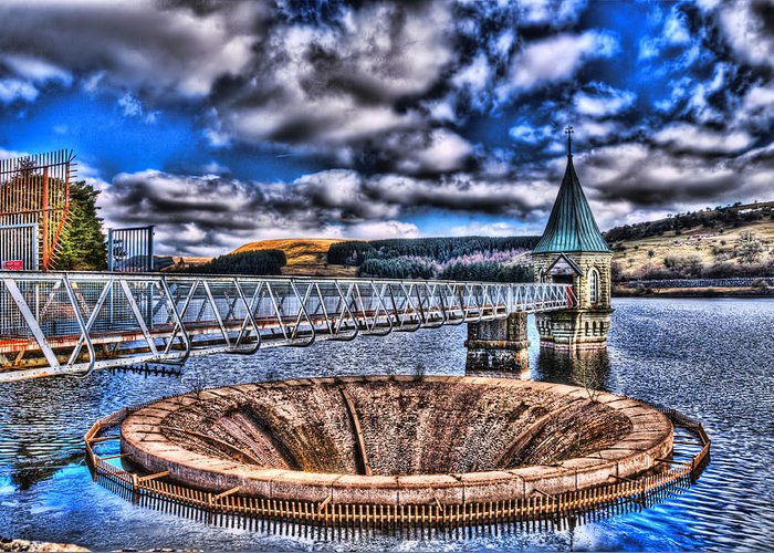Pontsticill Reservoir Greeting Card featuring the photograph Pontsticill Reservoir Merthyr Tydfil by Steve Purnell