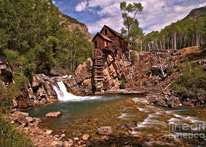 Crystal Colorado Greeting Card featuring the photograph Pool Below The Mill by Adam Jewell