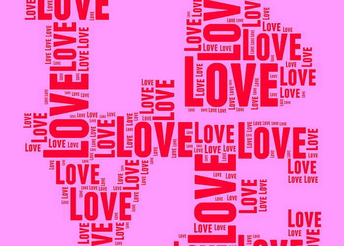Love Greeting Card featuring the digital art Pop Love 4 by Delphimages Photo Creations