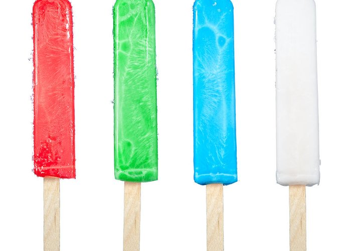 Popsicles Greeting Card featuring the photograph Popsicle Collection by Joe Belanger
