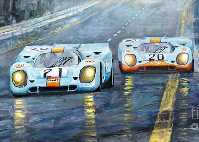Sports Cars Greeting Cards
