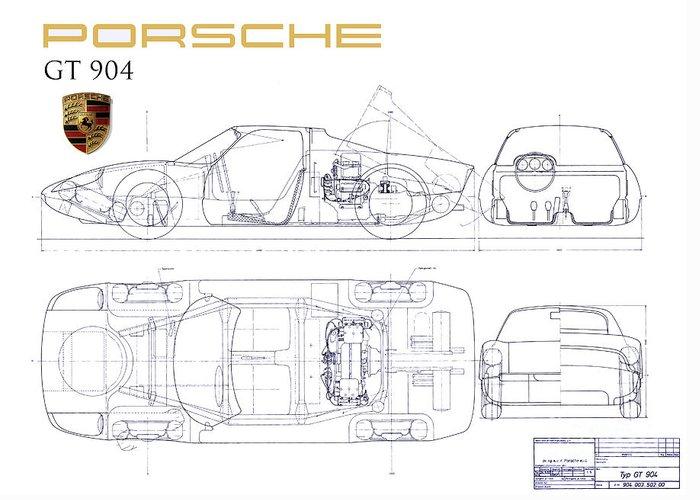 Designs Similar to Porsche Gt 904 Blueprint