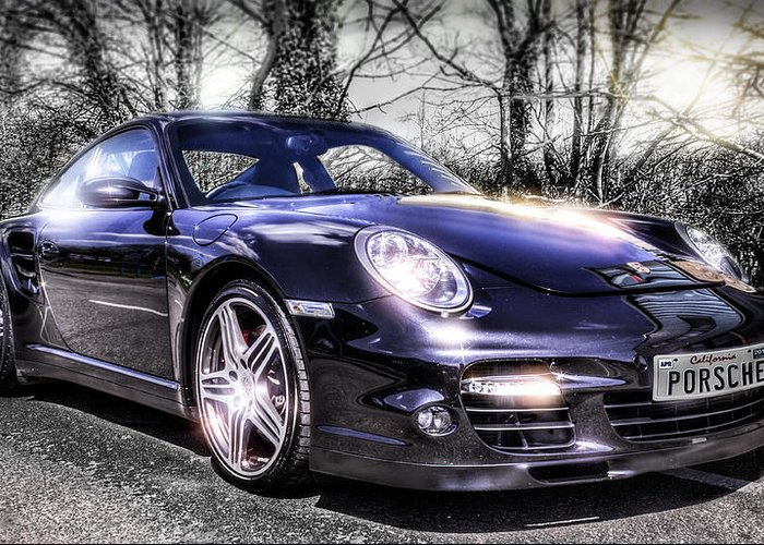 Porsche Greeting Card featuring the photograph Porsche by Ian Hufton