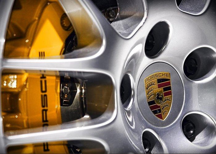 Porsche Greeting Card featuring the photograph Porsche Wheel by Gordon Dean II