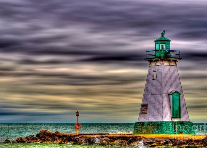 Beacon Greeting Card featuring the photograph Port Dalhousie Lighthouse by Jerry Fornarotto