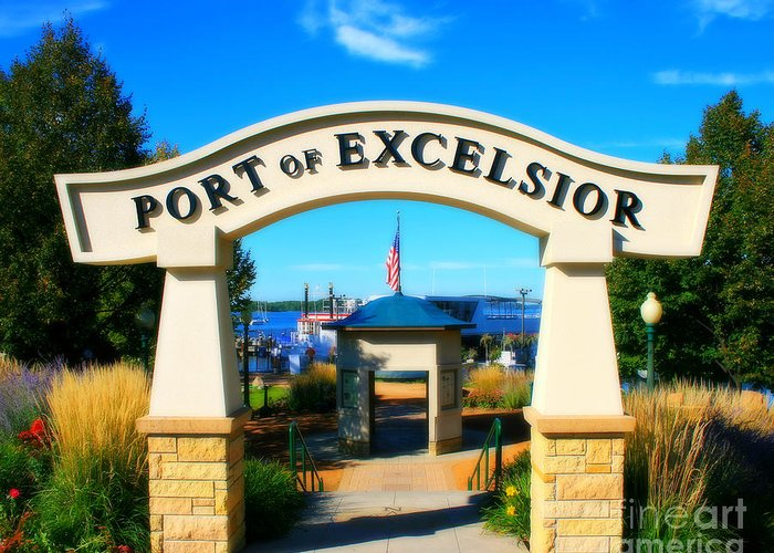 Port Greeting Card featuring the photograph Port Of Excelsior by Perry Webster