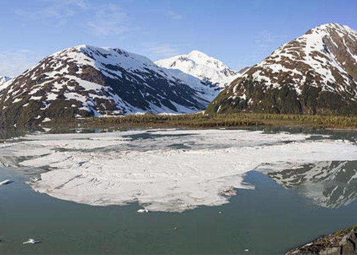 Alaska Greeting Card featuring the photograph Portage Lake Panorama by Tim Grams