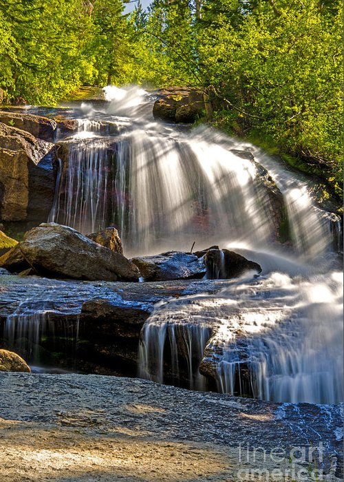 Mt. Whitney Greeting Card featuring the photograph Portal Falls by Baywest Imaging