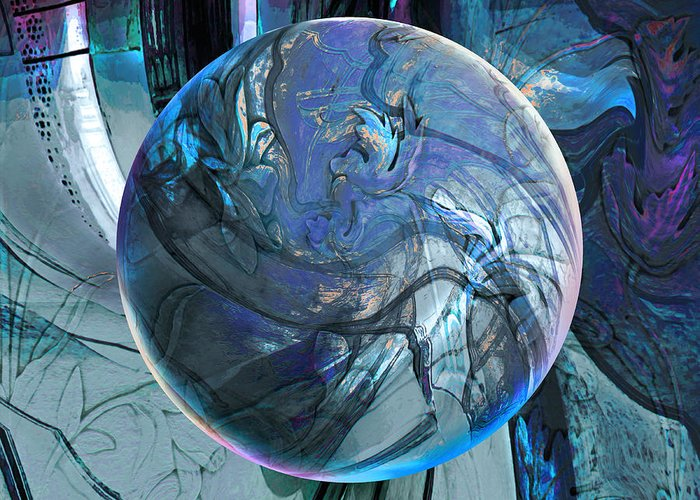 Portals Greeting Card featuring the digital art Portal To Divinity by Robin Moline