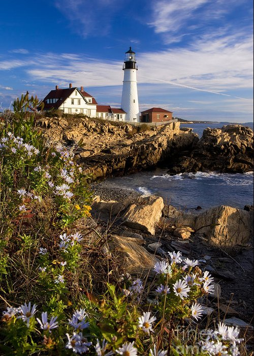 Portland Greeting Card featuring the photograph Portland Head Light by Brian Jannsen