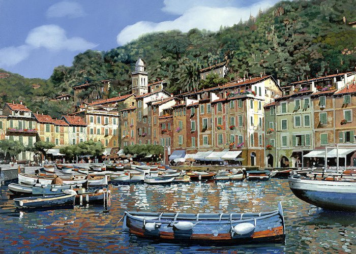 Portofino Italy Boats Greeting Cards