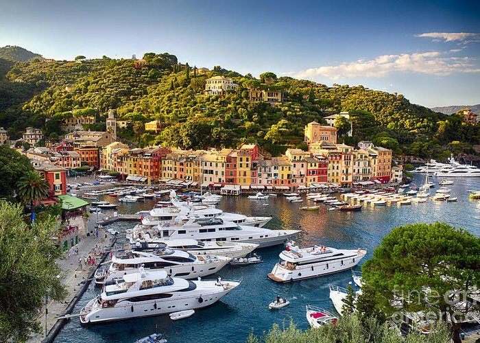 Europe Greeting Card featuring the photograph Portofino Summer Afternoon by George Oze