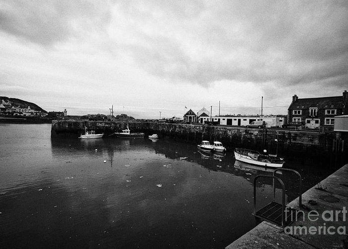 Portpatrick Greeting Card featuring the photograph Portpatrick Harbour Scotland Uk by Joe Fox