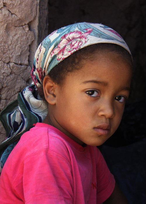 Berber Greeting Card featuring the photograph Portrait Of A Berber Girl by Ralph A Ledergerber-Photography