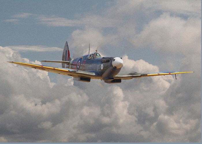Aircraft Greeting Card featuring the digital art Portrait Of An Icon by Pat Speirs