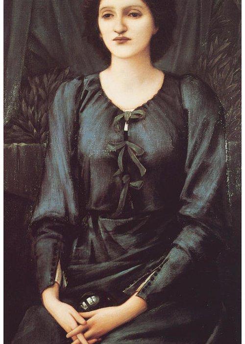 Edward Burne-jones Greeting Card featuring the painting Portrait Of Baronne Madeleine Deslanders by Edward Burne-Jones