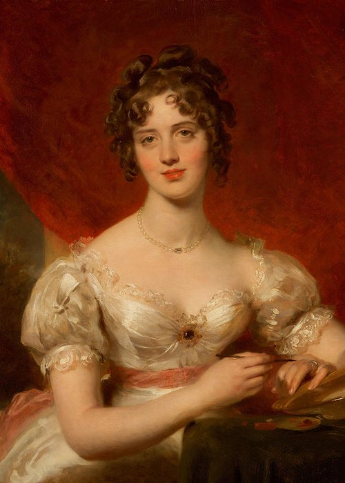 Portrait Of Mary Anne Bloxam Greeting Card featuring the painting Portrait Of Mary Anne Bloxam by Thomas Lawrence