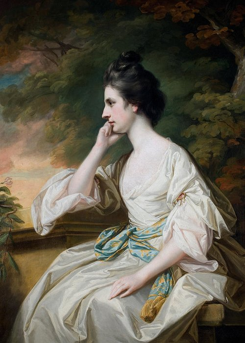 Portrait Greeting Card featuring the painting Portrait Of Miss Anne Dutton by Francis Cotes