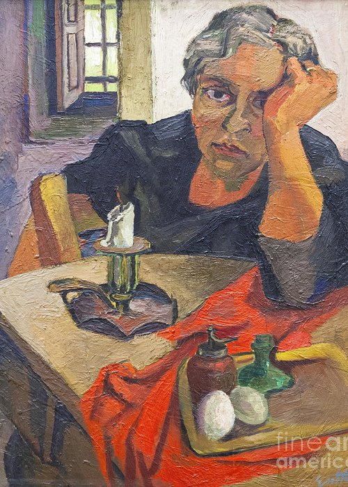 Portrait of the artists mother by renato guttuso greeting card for guttuso greeting card featuring the photograph portrait of the artists mother by renato guttuso by roberto m4hsunfo