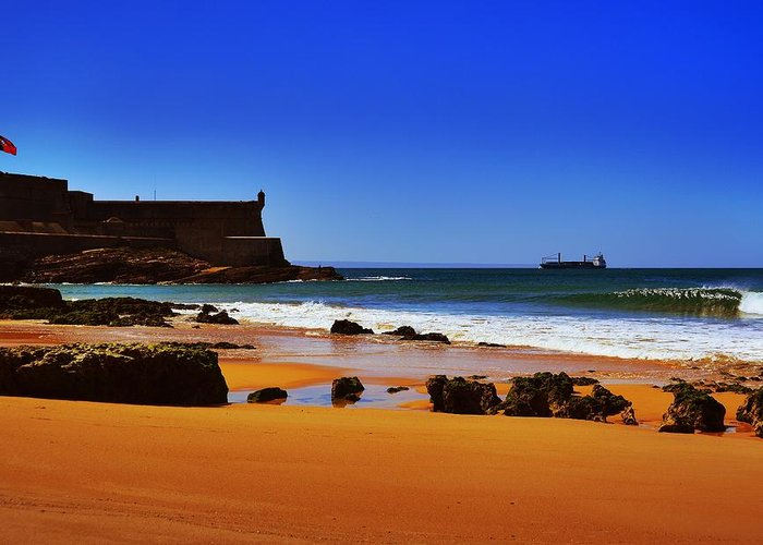 Portuguese Coast Greeting Card featuring the photograph Portuguese Coast by Marco Oliveira
