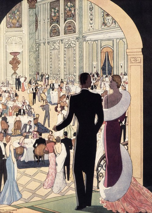 30s Greeting Card featuring the painting Poster Advertising The Rex by Italian School