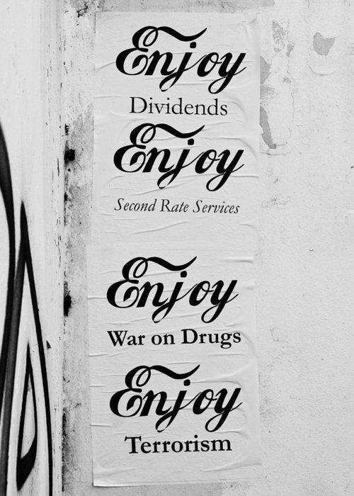 Anti Drug Poster Greeting Cards