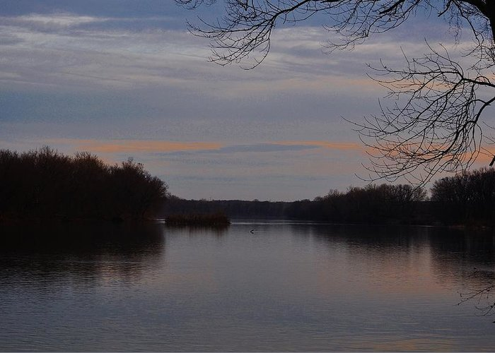 Potomac River Greeting Card featuring the photograph Potomac River At Whites Ferry by Marc Mesa