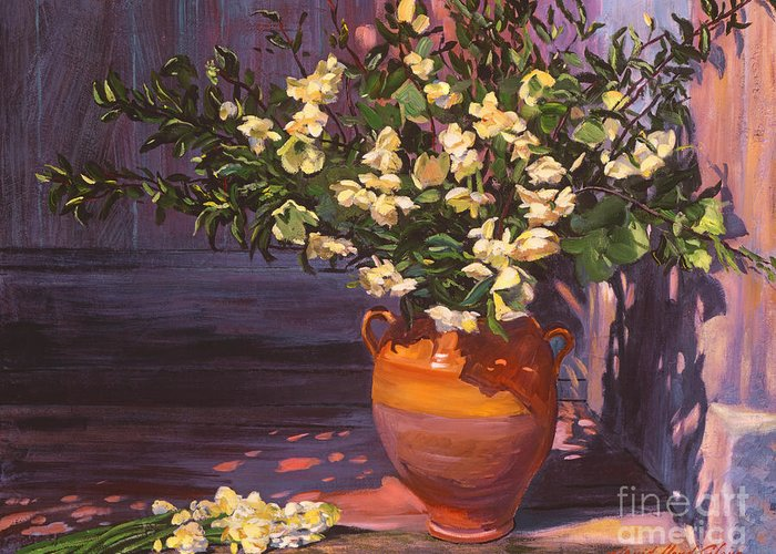 Outdoor Still Life Paintings Greeting Cards