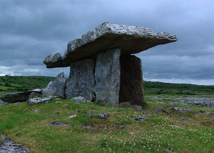 Ireland Greeting Card featuring the photograph Poulnabrone Dolmen 1 by Ken Dietz