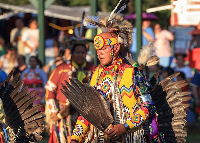 Honor The Earth Greeting Card featuring the photograph Pow Wow 10 by Keith R Crowley