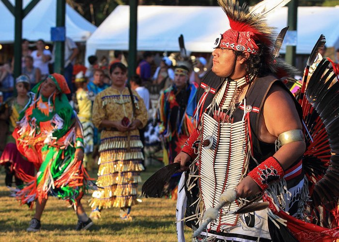 Honor The Earth Greeting Card featuring the photograph Pow Wow 13 by Keith R Crowley