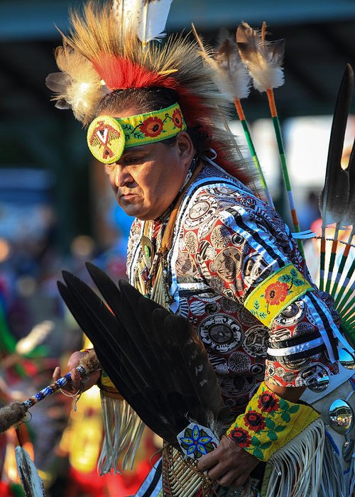 Honor The Earth Greeting Card featuring the photograph Pow Wow 14 by Keith R Crowley