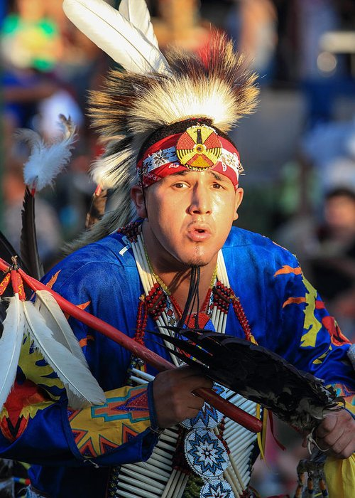 Honor The Earth Greeting Card featuring the photograph Pow Wow 17 by Keith R Crowley