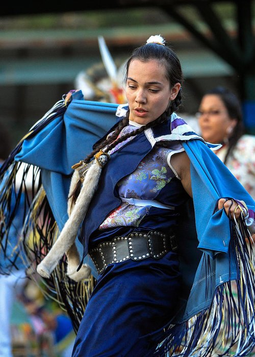 Honor The Earth Greeting Card featuring the photograph Pow Wow 26 by Keith R Crowley