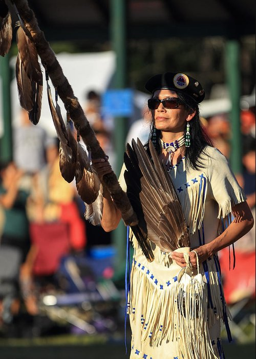 Honor The Earth Greeting Card featuring the photograph Pow Wow 29 by Keith R Crowley