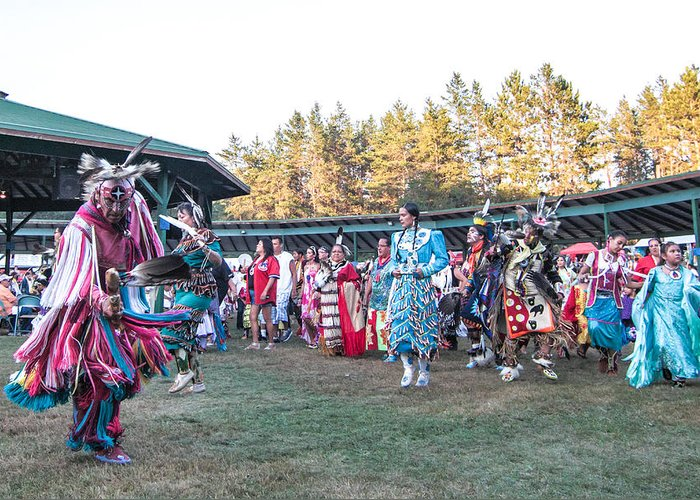 Honor The Earth Greeting Card featuring the photograph Pow Wow 3 by Keith R Crowley