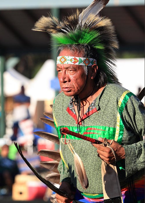 Honor The Earth Greeting Card featuring the photograph Pow Wow 31 by Keith R Crowley