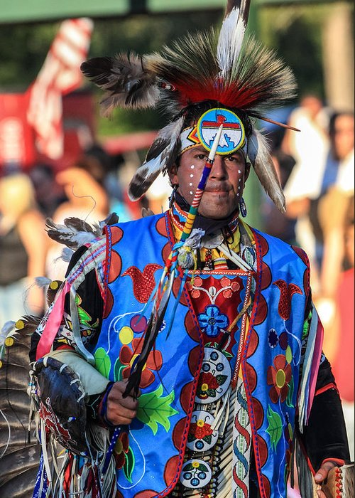 Honor The Earth Greeting Card featuring the photograph Pow Wow 40 by Keith R Crowley
