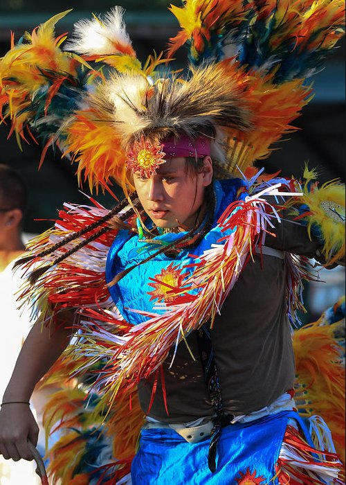 Honor The Earth Greeting Card featuring the photograph Pow Wow 42 by Keith R Crowley