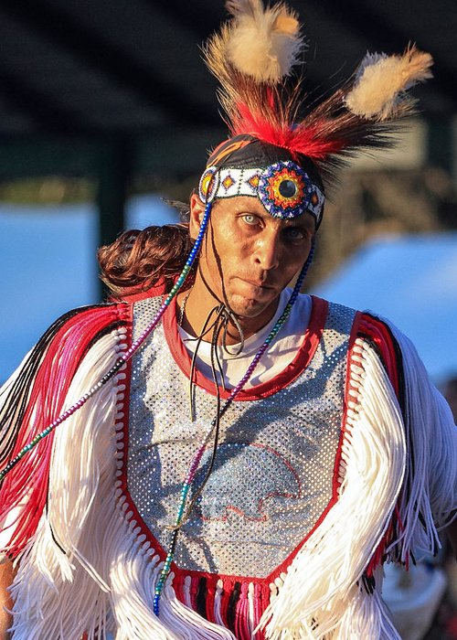 Honor The Earth Greeting Card featuring the photograph Pow Wow 46 by Keith R Crowley