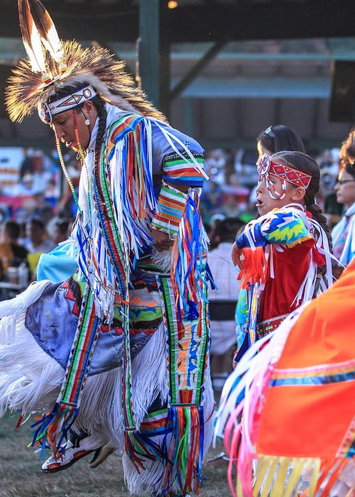 Honor The Earth Greeting Card featuring the photograph Pow Wow 52 by Keith R Crowley