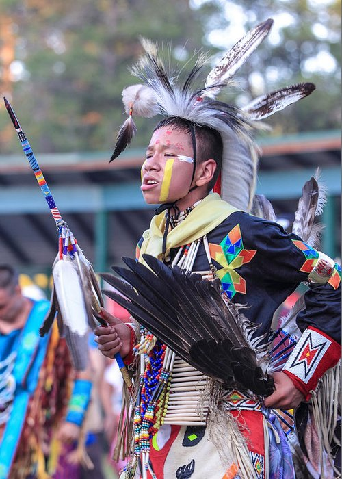 Honor The Earth Greeting Card featuring the photograph Pow Wow 55 by Keith R Crowley