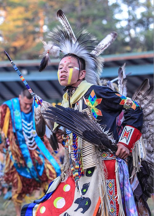 Honor The Earth Greeting Card featuring the photograph Pow Wow 56 by Keith R Crowley