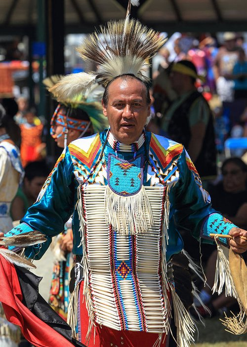 honor The Earth Greeting Card featuring the photograph Pow Wow 61 by Keith R Crowley