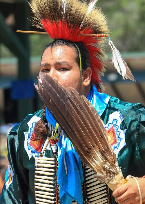 honor The Earth Greeting Card featuring the photograph Pow Wow 63 by Keith R Crowley
