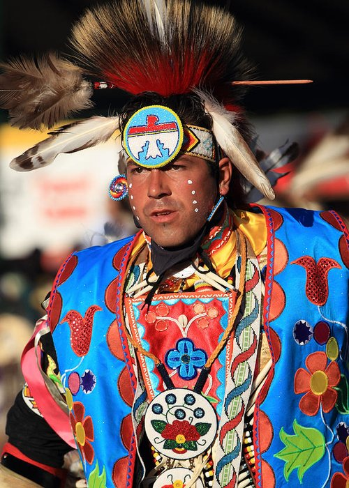 Honor The Earth Greeting Card featuring the photograph Pow Wow by Keith R Crowley