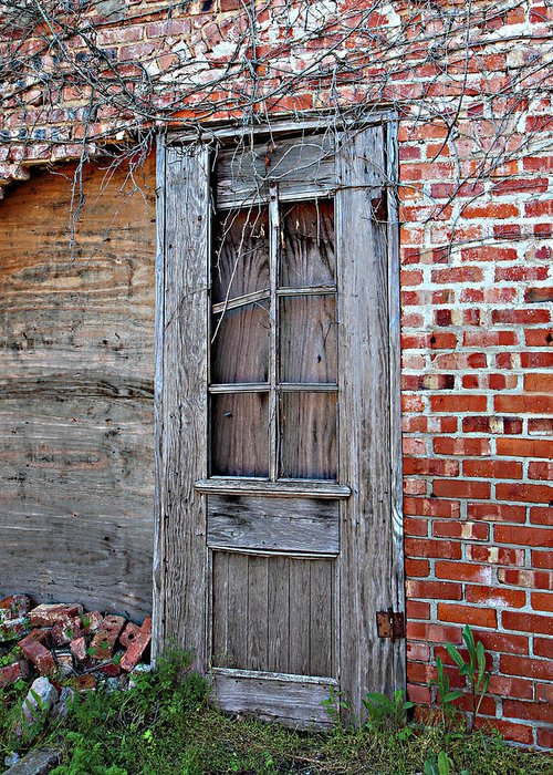 Duncan Greeting Card featuring the photograph Power House Door by Debbie Duggar