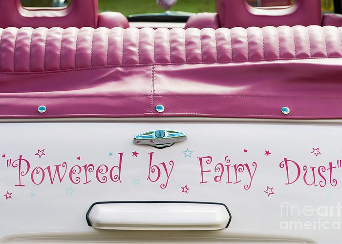 Powered By Fairy Dust Greeting Card featuring the photograph Powered By Fairy Dust by Tim Gainey