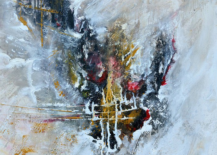 Abstract Art Greeting Card featuring the painting Powerful - Abstract Art by Ismeta Gruenwald