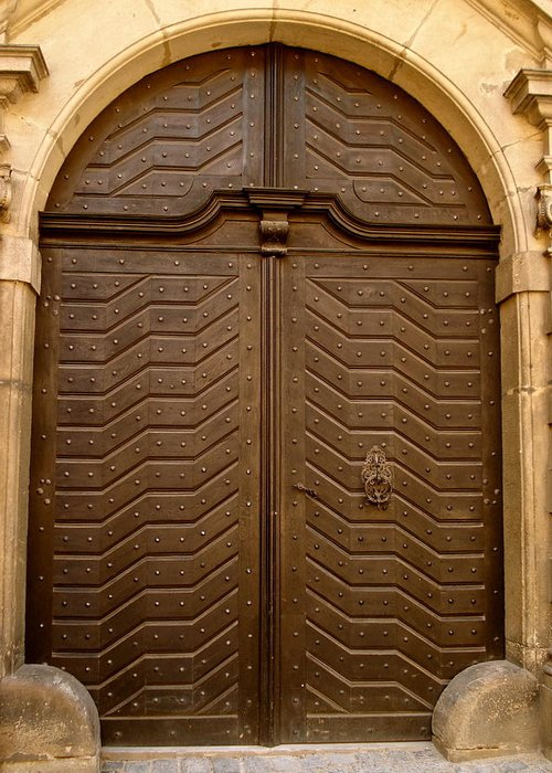 Old Door Greeting Card featuring the photograph Prague 3 by Just fotos By Katie Fonken